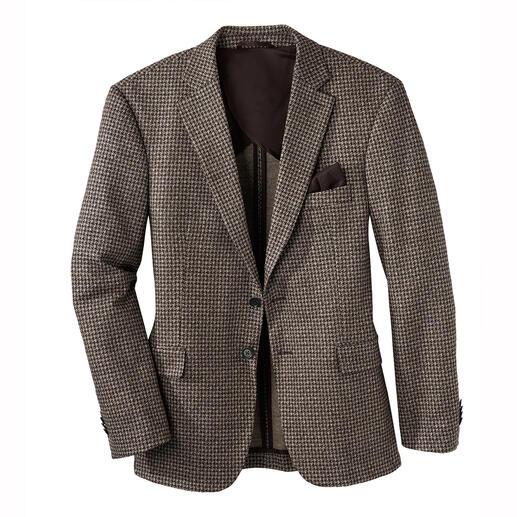 Colbert van jersey van wol en zijde Chic als een fijn, op maat gemaakt colbert en comfortabel als uw favoriete vest.