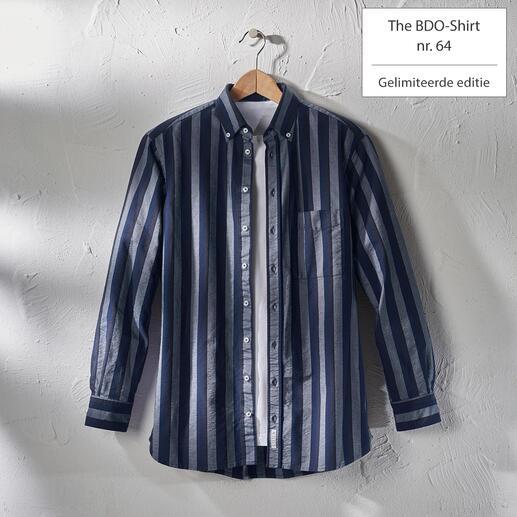 The BDO-shirt, Limited Edition No. 64 Ontdek een goede oude vriend. En vergeet dat een overhemd moet worden gestreken.