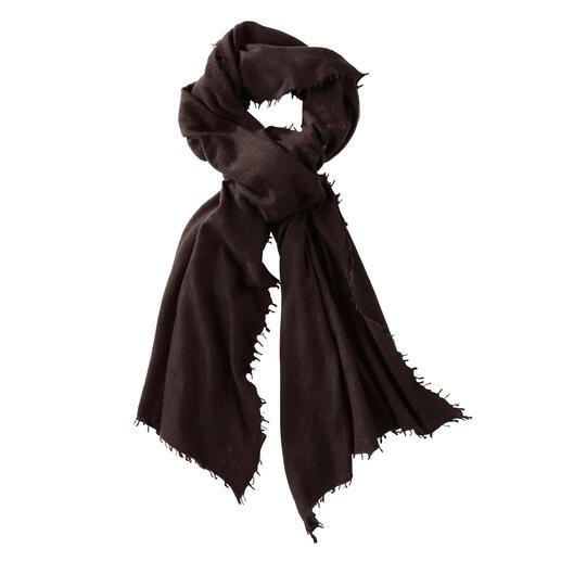 Sjaal van kasjmier voor het hele jaar Perfect als een luchtige stola in de zomer en als warme sjaal in de winter. Made in Nepal.