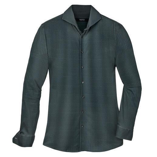 Desoto jersey-overhemd Langstapelig Supima®-katoen. Dubbel gemerceriseerd. Knopen van echt parelmoer.