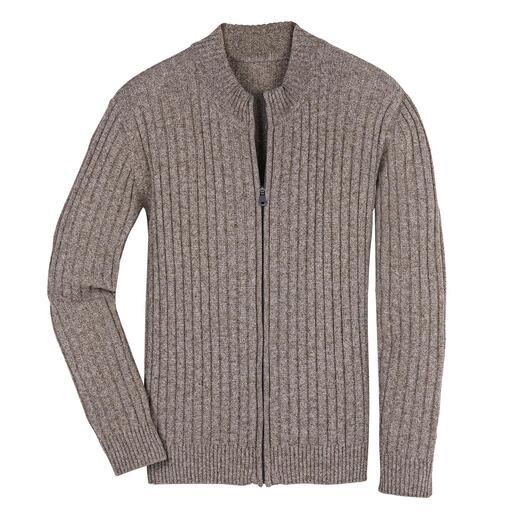 Vest met jakwol Vest met chique jakwol: bijna zo zacht als kasjmier, maar veel robuuster.