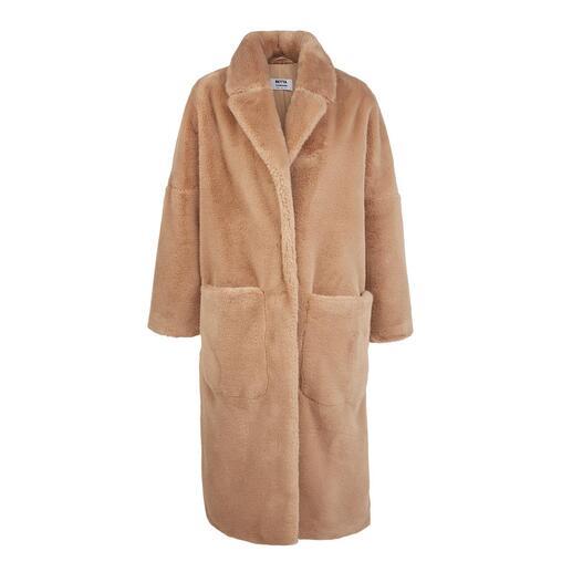 Betta Corradi mantel van imitatiebont De mantelklassieker van morgen, gemaakt van luxueus imitatiebont.
