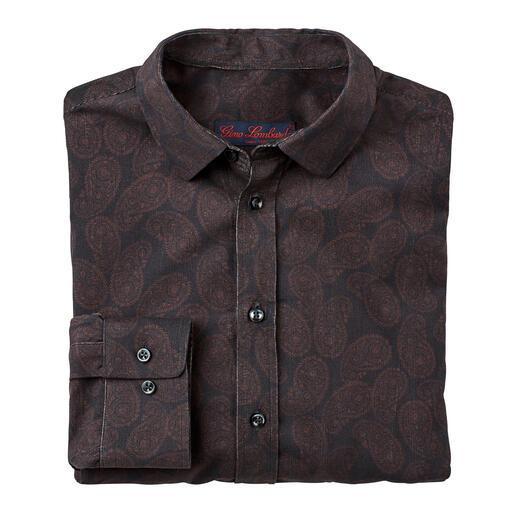 Paisley-cordoverhemd Warm cordoverhemd met klassiek paisleydessin.