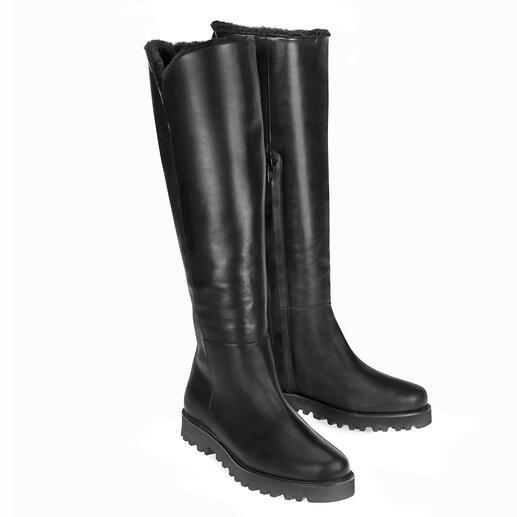 Casanova laarzen van lamsvacht Behaaglijk zachte, iets warme en verbazingwekkend lichte laarzen van lamsvacht – in elegante look en voor een aantrekkelijke prijs.