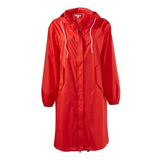 Aigle pocket-regenparka Chiquer en gekleder dan gebruikelijke opvouw-bare regenjassen.