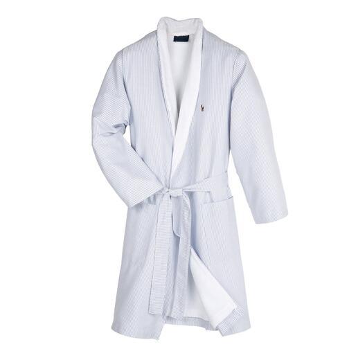 Ralph Lauren Oxford-badjas Maar weinig badjassen zijn zo stijlvol als deze: Oxford-overhemdstof aan de buitenkant.