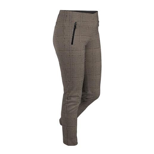 Stark broek met ruitmotief Stijlvol als een zakelijke broek en comfortabel als een legging – comfortabele jerseybroek met een ruitmotief.