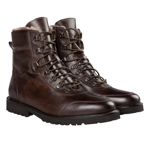 Sneakerlaarzen van lamsleer Zacht kalfsleer aan de buitenkant, warm lamsleer aan de binnenkant: elegante sneakerlaars made in Italy.