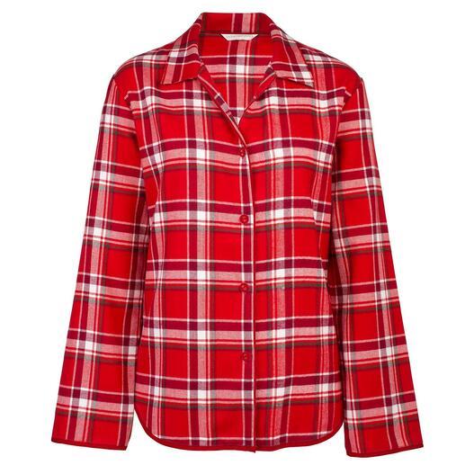 Cyberjammies flanellen pyjama Zo zacht kan warmte zijn: vijfvoudig geborstelde, bijzonder zachte flanellen pyjama.