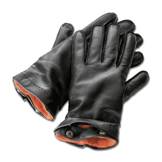 Merola heren-handschoenen Met de hand genaaid van zeer fijn lamsnappa. Met uitknoopbare kasjmier-voering.