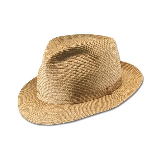 Deze hoed mag worden gekreukt – hij blijft toch altijd perfect in vorm. Deze hoed mag worden gekreukt – hij blijft toch altijd perfect in vorm.