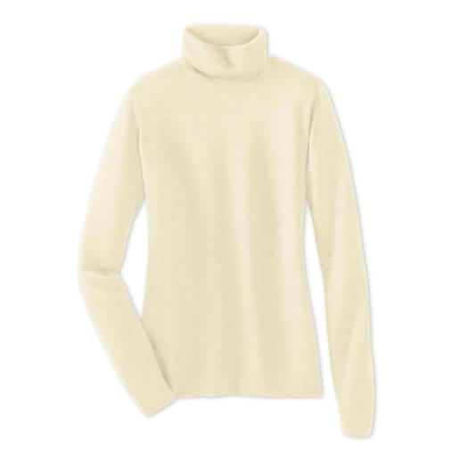 Fijner wordt het niet. Fijner wordt het niet. Deze ultralichte pullovers van John Smedley past in elke handtas.