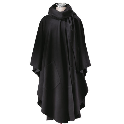 Cape-mantel Comfortabele bescherming tegen de kou. Van de fijnste cashmere-combinatie.