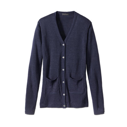 Phil Petter linnen vest Als het volop zomer is, is dit prettiger, verzorgder en mooier dan elk gekleed jasje.