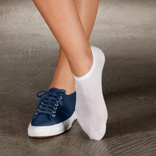 Zomersocken, set van 2 paar Deze sokken heeft u nodig, als u in de zomer het liefst zonder sokken zou willen lopen.