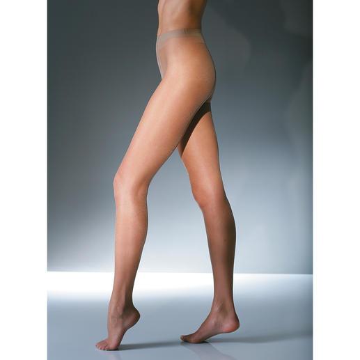 6-denier-panty, set van 2 - Een panty bij 30°C in de schaduw. Polyamide van 6denier dun: netjes gekleed zonder dat u het te warm hebt.