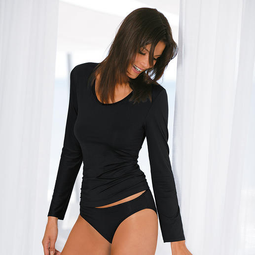zwart, Lange-mouwen-shirt en Jazz-Pants