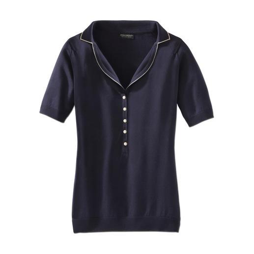 John Smedley-polo De fabricage van dit shirt duurt 60 uur. Het verschil merkt u binnen enkele seconden.