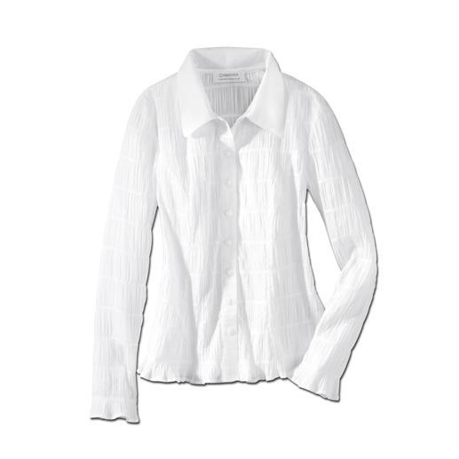 Crashblouse 'easycare' Crash: de waarschijnlijk meest ongecompliceerde witte blouse die u ooit hebt gehad.