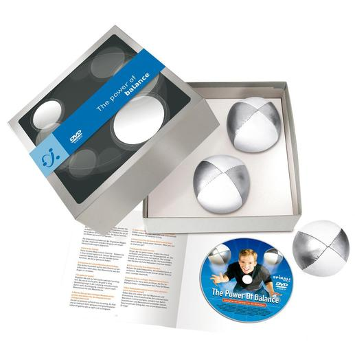 U ontvangt uw jongleerset in geschenkverpakking incl. dvd en handleiding van 10 bladzijden.