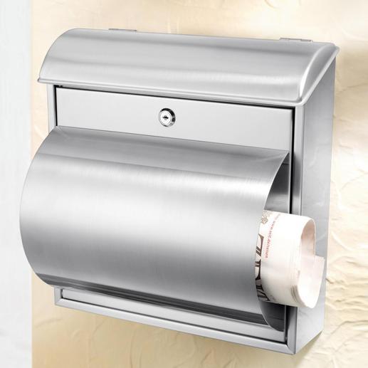 Rvs brievenbus - Solide, duurzame kwaliteit – Met handig vak voor dagbladen.