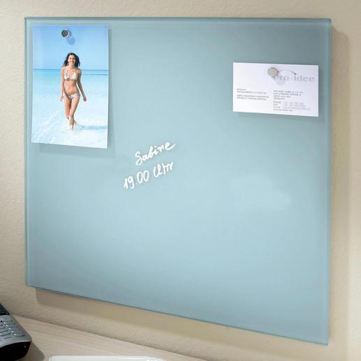 Glazen magneetbord Eindelijk een memo-board in een cool design.
