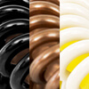 gemengd, zwart/bruin/crème (2 stuks van elke kleur)