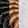 gemengd, zwart/bruin/transparant (2 stuks van elke kleur)