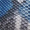 jeansblauw/taupe/wit/zwart