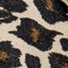 velvet leo, creme/zwart/bruin